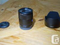 Sony-Carl Zeiss 55mm f1.8 E-mount full frame lens., used for sale  British Columbia