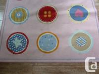 """Square 4'4"""" Pink with 9 circles different colours with"""