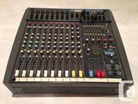 Powered PA mixer with built in Lexicon Effects.  Unit