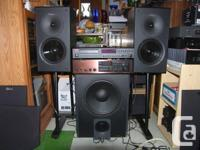 "Two (2) excellent Nuance speakers, 8"" woofers, sweet"