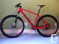 "This mountain bike is 2012 with 2013 Large (19"") frame."