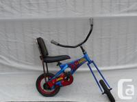 Crawler Man Toddler's Bike,. Lengthy front fork,.