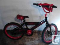 THIS KIDS BMX IS IN LIKE NEW CONDITION IT HAS 18 INCH