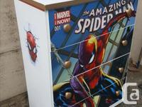 Refinished Spiderman 4 drawer dresser with Marvel Comic
