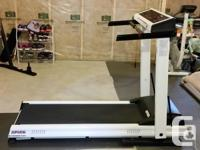 Great treadmill, barely used. Folds up automatically