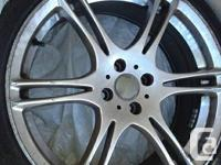 sport tires with rim 215/35ZR18, 80%new,rim bland is