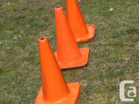 SPORTS TRAINING SAFETY- Flexible PVC - ORANGE CONES ($ for sale  British Columbia