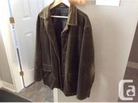 Express Men's Jacket Green Corduroy Size Medium