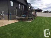 Springfree Trampoline and Springfree basketball hoop