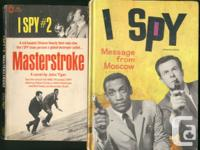 2 books from the 1960's action show I Spy; both have