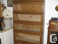 Quarter cut oak stacking bookcase Barrister Cabinets 6