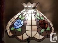 Very beautiful stained glass large lamp with really