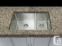 Hand-made design super-sized square kitchen sink with