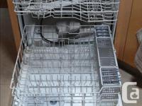 G.E. Profile stainless steel dishwasher in excellent