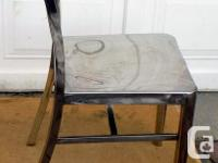 Stainless Steel Chair. Metal is non-magnetic. Looks and