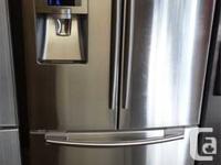 Top of the line Samsung french door fridge freezer on