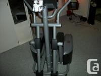 Elliptical machine Fitness instructor c/w handbook,