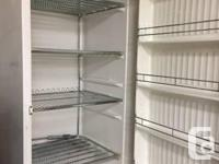 "Stand up freezer works great 66"" h x 30""w x 28""d 4"