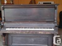1893 Chas h Fisher stand up grand piano. Was my