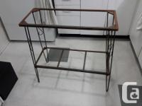 """Excellent condition wrought iron fish tank stand. 12"""""""