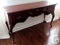 Thank you for your interest in our Mahogany Buffet