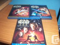 I am selling the Star Wars DVD Trilogy of episodes 1,