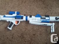 A customizable Star Wars blaster featuring light and