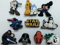 Set of 10 Star Wars shoe charms for Crocs or as