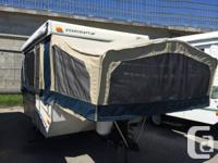 2008 Starcraft 2106 Outdoor tents Trailer. Has electric