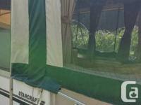 2004. Starcraft Toyhauler Camping tent Trailer. Rests
