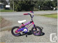 """My daughter's first bike. Wheel size: 12.5"""" Suitable"""