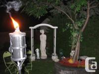 Statue romaine 5 pieds 6 pouces inclus le paravent Fait