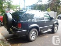 Make Chevrolet Model Blazer Year 2001 Colour Black kms