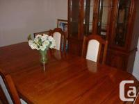 Selling Dark Wood Dining Room Set - Asking $650 OBO In
