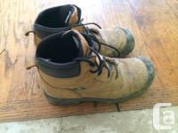 Steel toe boots, worn for 2 weeks. Buffalo Nubuck