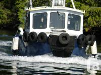 "The ""Tuffie"" is a 31 ft Steel hulled Tug Boat with 120"