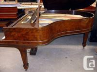 "Steinway & Sons model ""A""  6'1"" in Walnut. Manufactured"