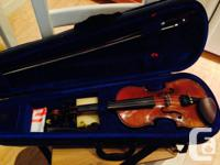 . Stentor Pupil 3/4 Violin.  Hand carved from strong