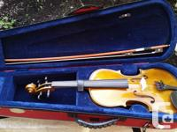 A new condition student violin. Comes in case and with