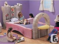 Can be used as a toddler bed with a crib mattress or as
