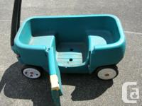 Step 2 Wagon. 39 x 19 x 16.5 inches or 99 x 48 x 42
