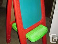 "Step 2 Easel for 2, 42"" high constructed from red"