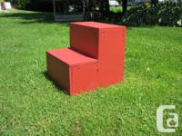 I build and sell all kinds of step up benches to help