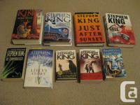 I am selling 9 Stephen Master books. I am only selling