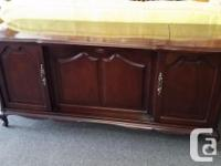Quality wood cabinet with stereo and built in