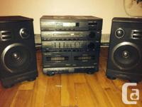 Mini stereo system : tape casette and radio work, the