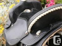 Includes saddle and matching western bridle, reins, and