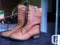 STEVE MADDEN COMBAT BOOTS for sale never been worn,