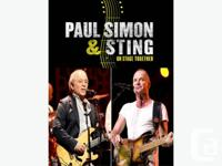 Two (2) STING & PAUL SIMON tickets for sale at cost. We