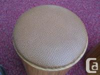 2 short stools 14 inches tall and 11 diameter, with